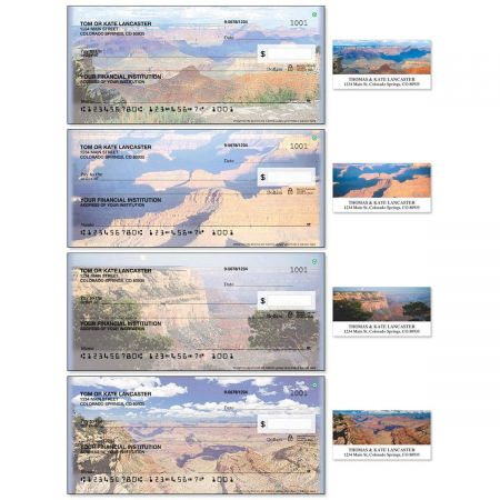 Grand Canyon Single Checks With Matching Address Labels