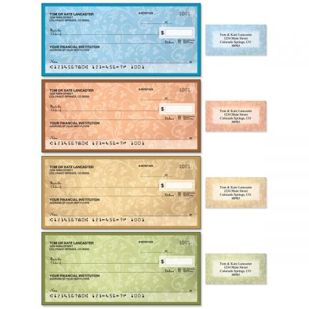 Fresco Single Checks With Matching Address Labels