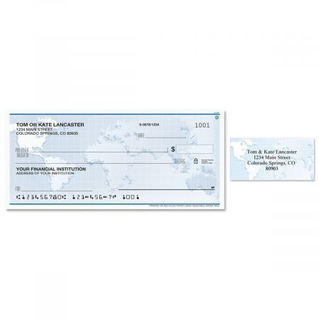 Globe Single Checks With Matching Address Labels