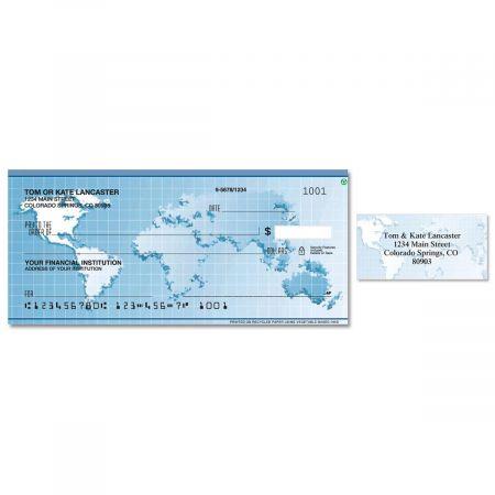 Globe Single Checks With Matching Address Labels