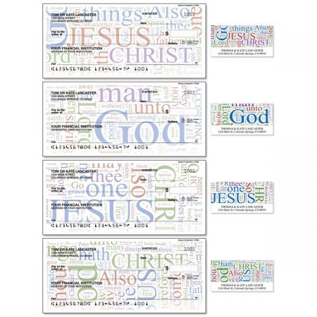 Beauty in Inspiration Single Checks With Matching Address Labels