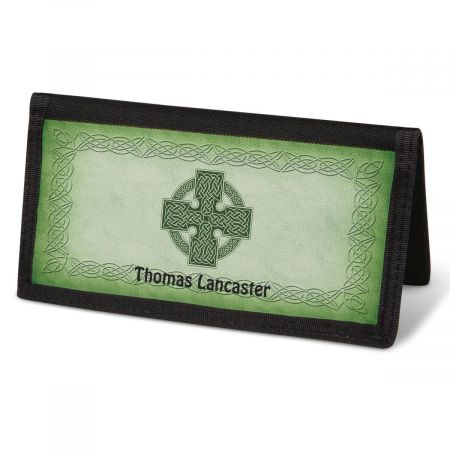 Celtic Cross  Checkbook Cover - Personalized
