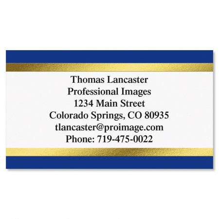 Foil Blue and Gold Foil Calling Cards