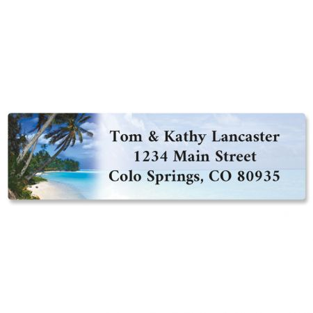 Tropical Paradise II Rolled Address Label (5 Designs)