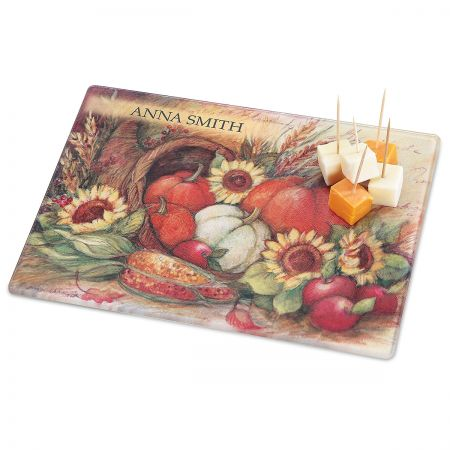 Plentiful Harvest Tempered Glass Cutting Board