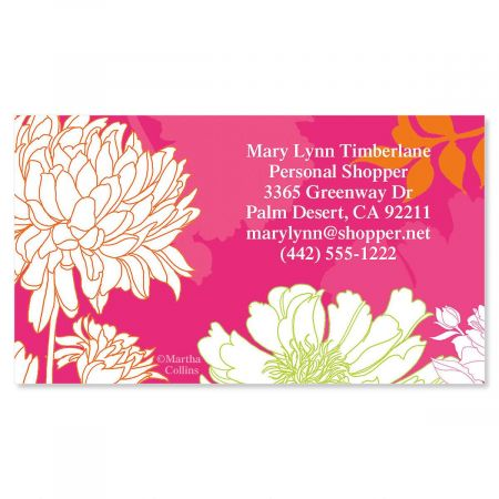 Peonies In Color Standard Calling Card