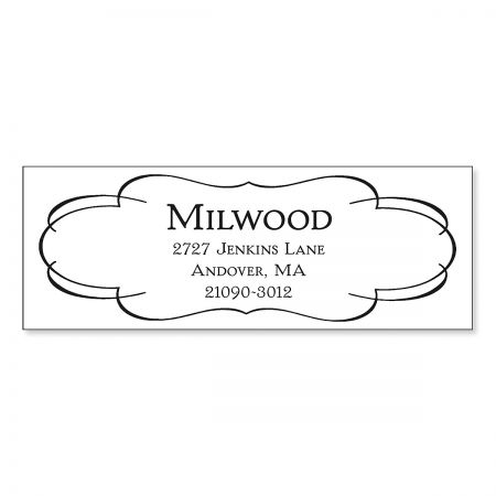 Elegant Frame Pre-Inking Address Stamp