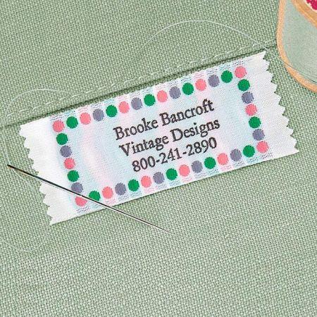 Sassy Dots Sewing Label