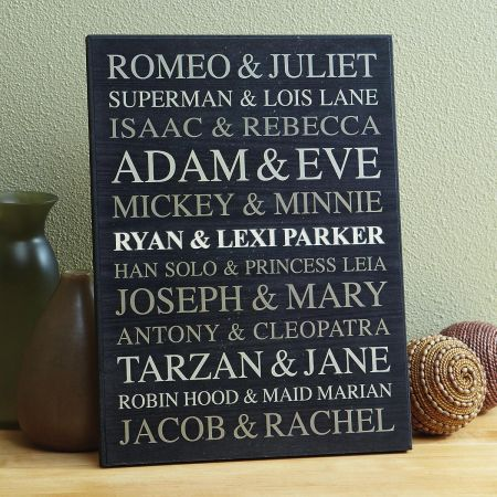 Personalized Couples Wooden Plaque