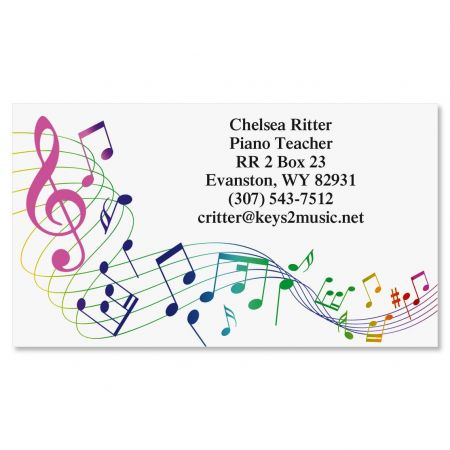 Musical Standard Calling Card