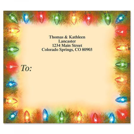 String of Lights Mailing Package Label