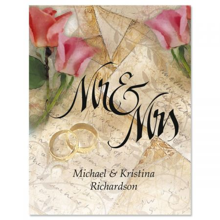 Mr. & Mrs. Custom Note Cards