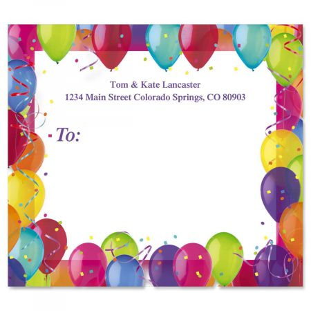 Birthday Balloons Mailing Package Label