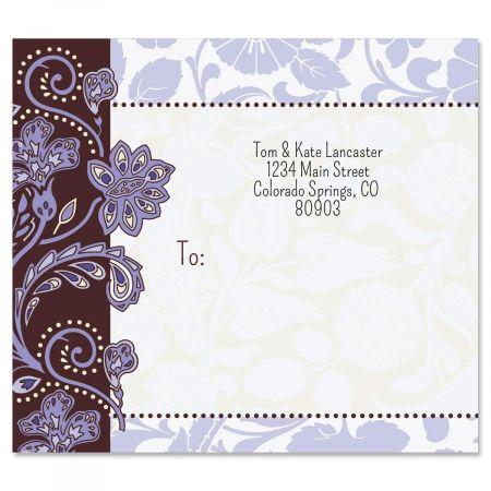 Lavender Brocade Mailing Package Label
