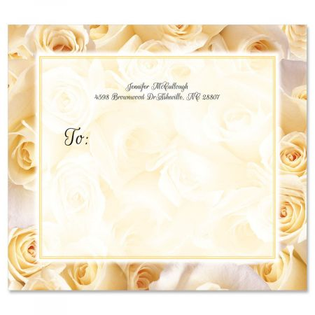 White Roses Mailing Package Label