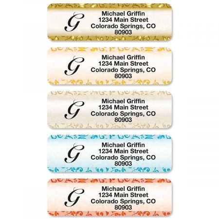 Stately Elegance Rolled Address Labels  (5 Designs)