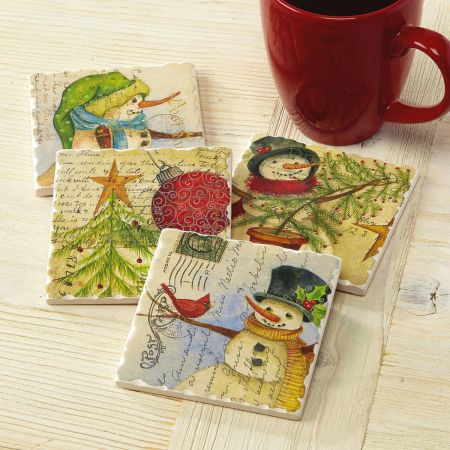 Christmas Postcard Coasters