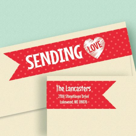 With Love Wrap Around Address Labels