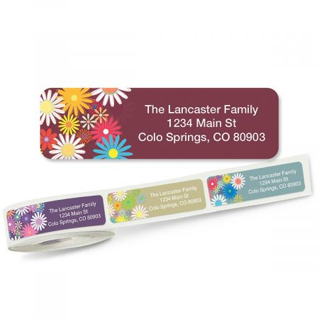 Petite Flowers Rolled Address Labels  (5 Designs)