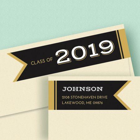 Graduation Day Connect Wrap Around Diecut Address Labels