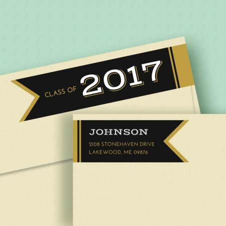 Graduation Day Connect Wrap Around Diecut Address Labels