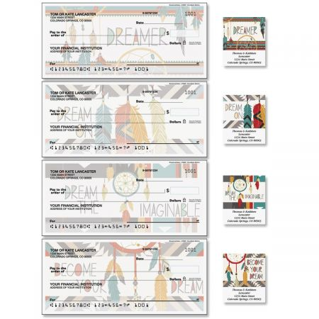 Dreamcatchers Single Checks with Matching Labels