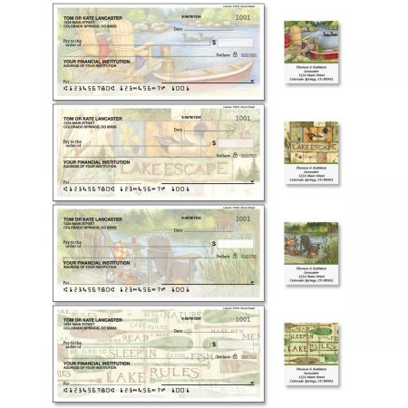 Lakeside Single Checks with Matching Labels