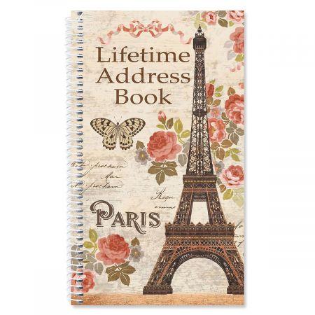Parisian Postcard Lifetime Address Book