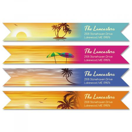 Tradewinds Connect Wrap Around Diecut Address Labels  (4 Designs)