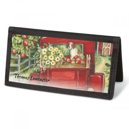 Red Truck Checkbook Cover - Personalized