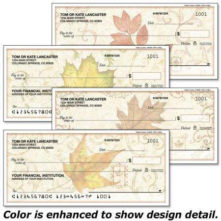 Fallen Leaves Single Checks