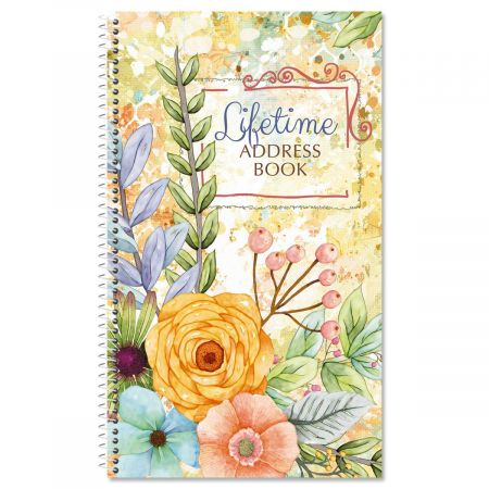 Sentiment Garden Lifetime Address Book