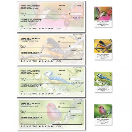 Birds of America Duplicate Checks with Matching Address Labels