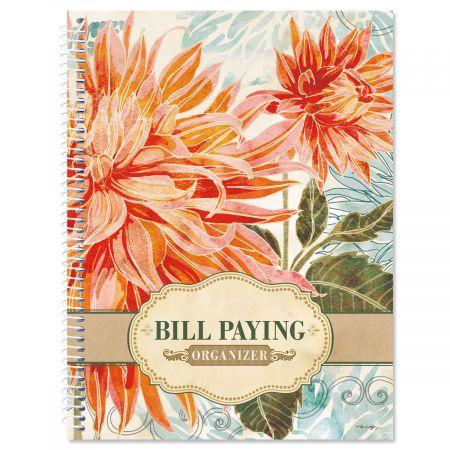 Floral Daydream Bill Paying Organizer