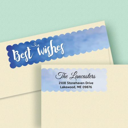 Assorted Greetings Wrap Around Address Labels  (8 Designs)