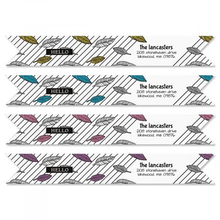 A Simple Hello Wrap Around Address Labels (4 Designs)
