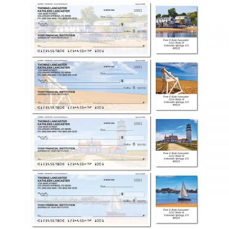 Cape Cod Single Checks with Matching Labels