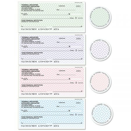 Diamond Pattern Single Checks with Matching Labels