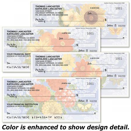 Sunflower Chambray Duplicate Checks