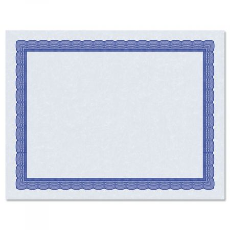 Executive Blue Certificate on Blue Parchment - Set of 50
