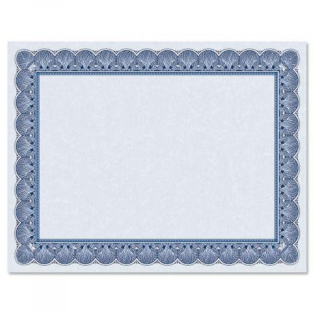 Elite Blue Certificate on Blue Parchment - Set of 10