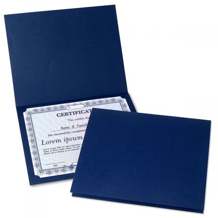 Plain Blue Certificate Folder