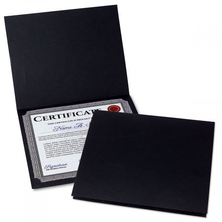 Plain Black Certificate Folder