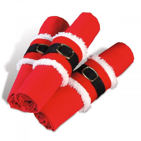Santa's Belt Napkin Holders