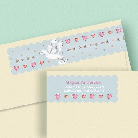 Cupid's Messenger Wrap Around Address Labels