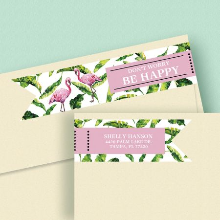 Kind & Lush Wrap Around Address Labels (4 Sayings)