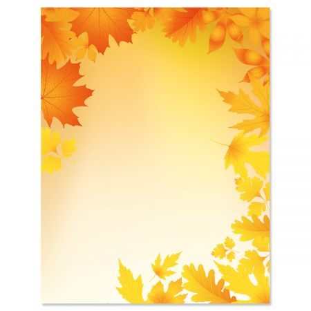 Autumn Leaves Halloween Letter Papers
