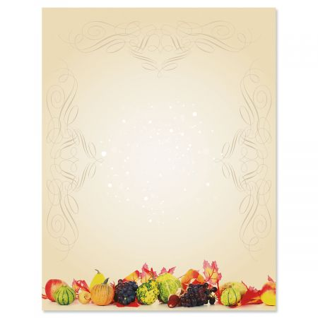 Classic Harvest Halloween Letter Papers