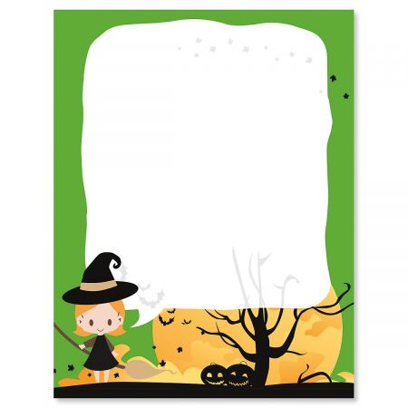 Witch Halloween Letter Papers