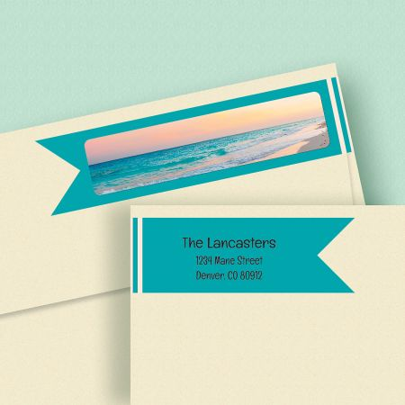 Sea Breeze Wrap Around Address Labels
